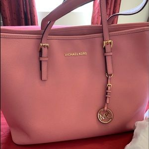 Pink Micheal Kors Tote Bag